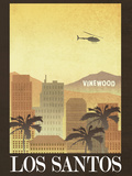 Los Santos Retro Travel Poster Photo