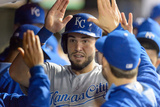 Sep 23, 2014, Kansas City Royals vs Cleveland Indians - Eric Hosmer Photographic Print by Jason Miller