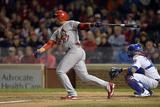 Sep 22, 2014, St. Louis Cardinals vs Chicago Cubs - Jhonny Peralta Fotografisk tryk af Brian Kersey