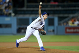 Sep 23, 2014, San Francisco Giants vs Los Angeles Dodgers - Zack Greinke Photographic Print by Stephen Dunn