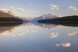 Canada, Alberta, Jasper National Park, Maligne Lake, Reflection of Clouds in a Lake Photographic Print by Don Paulson Photography