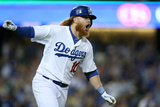 Sep 23, 2014, San Francisco Giants vs Los Angeles Dodgers - Justin Turner Photographic Print by Stephen Dunn