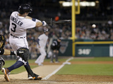 Sep 23, 2014, Chicago White Sox vs Detroit Tigers - Ian Kinsler Photographic Print by Duane Burleson