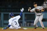 Sep 24, 2014, San Francisco Giants vs Los Angeles Dodgers - Joe Panik Photographic Print by Jeff Gross