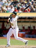 Sep 24, 2014, Los Angeles Angels of Anaheim vs Oakland Athletics - Josh Reddick Photographic Print by Ezra Shaw