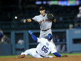 Sep 22, 2014, San Francisco Giants vs Los Angeles Dodgers - Joe Panik Photographic Print by Stephen Dunn