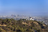 Griffith Park Observatory and Downtown Los Angeles Photographic Print by Mark Harris
