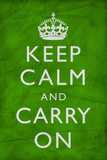Keep Calm and Carry On, Wrinkled Green Prints
