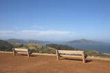 Park Benches Overlooking Angel Island and SF Bay Photographic Print by Jason Todd