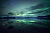 Northern Lights over Jokulsarlon Photographic Print by Matteo Colombo