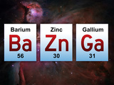 Ba Zn Ga Elements Pôsters