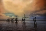 Fishing Pier at Sunset Photographic Print by Amateur photographer, still learning...