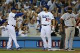 Sep 24, 2014, San Francisco Giants vs Los Angeles Dodgers - Lorenzo Bundy, Clayton Kershaw Photographic Print by Jeff Gross