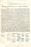 Declaration of Independence Authentic Reproduction Sepia Posters