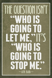 Who Is Going To Stop Me Ayn Rand Láminas