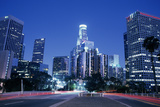 Usa, California, Los Angeles, Downtown at Night (Long Exposure) Photographic Print by Hisham Ibrahim