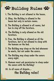 Bulldog House Rules Print