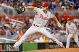 Sep 23, 2014, Philadelphia Phillies vs Miami Marlins - Cole Hamels Photographic Print by Rob Foldy