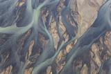 Aerial View of River Estuary Water, Iceland Fotodruck von Peter Adams