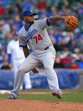 Sep 21, 2014, Los Angeles Dodgers vs Chicago Cubs - Kenley Jansen Photographic Print by Jonathan Daniel