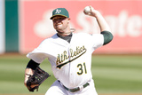 Sep 24, 2014, Los Angeles Angels of Anaheim vs Oakland Athletics - Jon Lester Photographic Print by Ezra Shaw