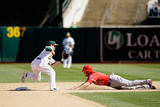 Sep 24, 2014, Los Angeles Angels of Anaheim vs Oakland Athletics - Grant Green Photographic Print by Ezra Shaw