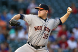 Sep 23, 2014, Houston Astros vs Texas Rangers - Brett Oberholtzer Photographic Print by Sarah Glenn