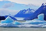 Grey Glacier, Torres Del Paine National Park Photographic Print by John W Banagan