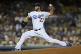 Sep 24, 2014, San Francisco Giants vs Los Angeles Dodgers - Clayton Kershaw Photographic Print by Jeff Gross