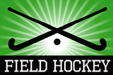 Field Hockey Crossed Sticks Green Sports Posters