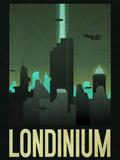 Londinium Retro Travel Poster Print