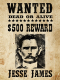 Jesse James Wanted Advertisement Póster