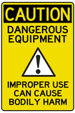 Caution Dangerous Machinery Advisory Work Place Posters