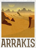 Arrakis Retro Travel Art