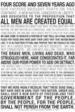 Gettysburg Address Text Prints