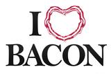 I Heart Love Bacon Print
