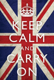 Keep Calm and Carry On, Union Jack Flag 高品質プリント