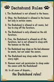 Dachshund House Rules Plakater