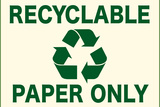 Recyclable Paper Only Posters