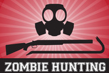 Zombie Hunting Gas Mask Crowbar Shotgun Sports Prints