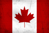 Canada Flag Distressed Posters
