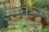 Claude Monet Le Pont Japonais Japanese Bridge at Giverny Plakát