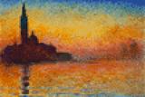 Claude Monet Dusk 8 Bit Posters