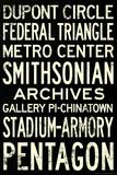 Washington DC Metro Stations Vintage Retro Metro Travel Poster