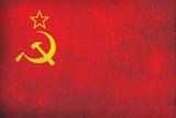 Soviet Flag Distressed Poster