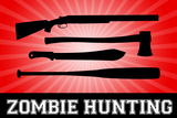 Zombie Hunting Red Sports Print