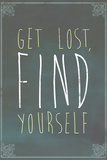Get Lost Find Yourself Posters