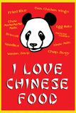 I Love Chinese Food Humor Art