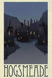 Hogsmeade Retro Travel Prints