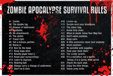 Zombie Apocalypse Survival Rules Prints